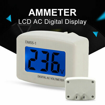 Dm55-1 Digital Lcd Voltage Test Monitor Us Plug In Volt Meter Ac 80-300v D8h8