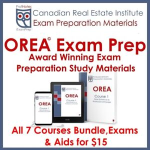 ☝ OREA Courses ☝ All Phases $15 Exam Prep Books Sault Ste Marie,
