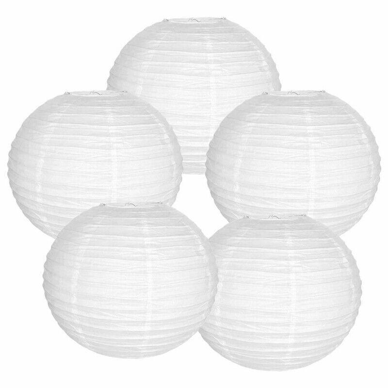 10 white chinese paper lanterns set of