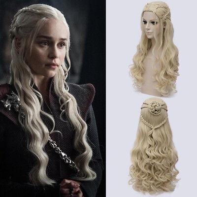 Game Of Thrones Daenerys Targaryen Khalessi Fake Hair Cosplay Halloween Wig  ()