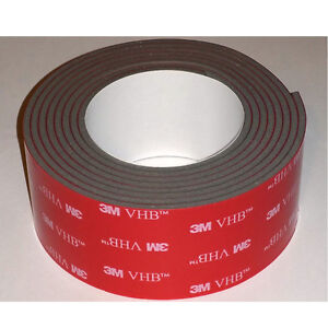 "3M 4991 VHB Double Sided tape for GoPro Mounts 1"" x 4 feet"