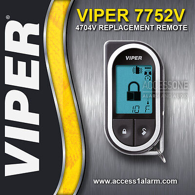 Viper 7752V 2-Way LCD Replacement Remote Control Transmitter For Viper 4704V