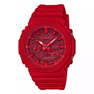 NEW G-Shock GA2100-4A Dial Red Resin Strap Men's Watch