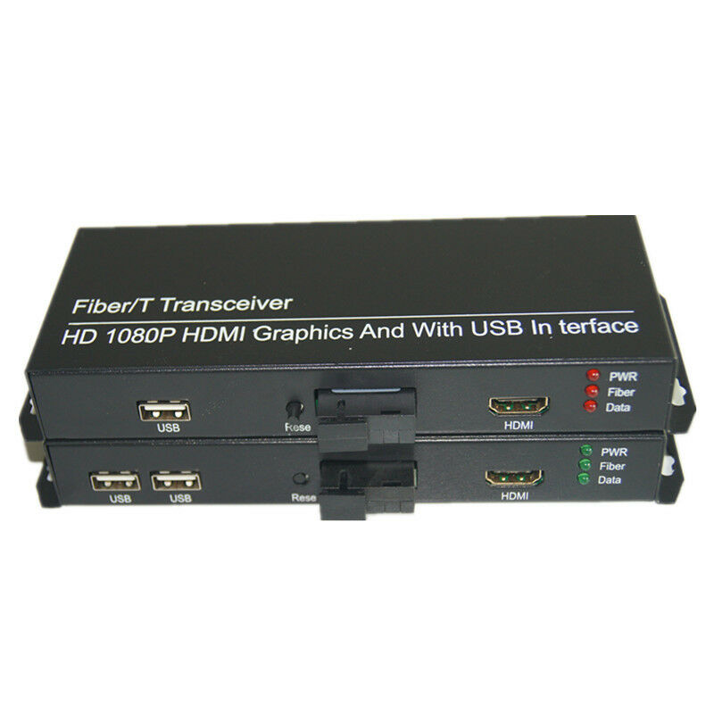 HD 1080P HDMI Extender Converters 2 KVM USB 2.0 HDMI over Fiber SC High Quality
