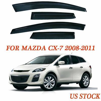 for Mazda CX-7 4-Door 2008-2011 Window Visor Rain Guard Vent KLD08