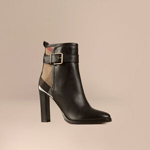 Burberry canvas check and leather ankle boot St. John's Newfoundland image 1