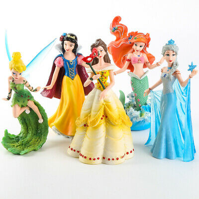 Tinker Bell Toys (5pcs Princess Figures Playset: Snow White Belle Mermaid Tinker Bell Cake)