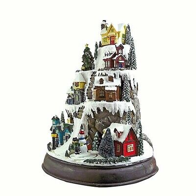 Musical Christmas Village By Mountain H.31 Baby That Swivel LED 8 Melodie 60006