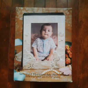 Silver Plated Baby Photo Album