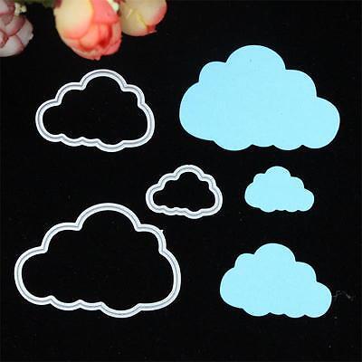 3 Clouds Metal Cutting Dies Stencils DIY Scrapbook Album Embossing Card Craft