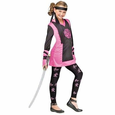 PINK DRAGON NINJA CHILD HALLOWEEN COSTUME SIZE LARGE 12-14 (Pink Dragon Costume)