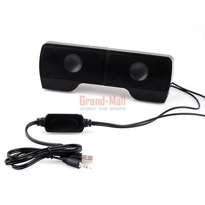 - Portable Mini Clip-On USB Powered Stereo Multimedia Speaker Soundbar for Laptop