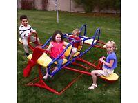 Kids aeroplane seesaw