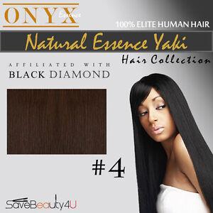 Black Diamond Onyx Natural Essence Yaki Human Hair