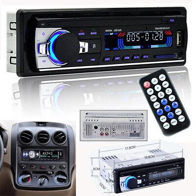 Car Stereo Radio Bluetooth In-dash Head Unit Player FM MP3/USB/SD/AUX 1DIN