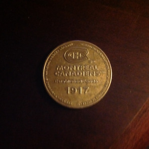 1917 Montreal Canadians coin