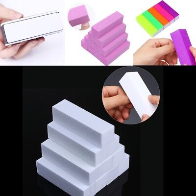 (1/4/10Pcs Sanding Sponge Nail Buffers Files Block Grinding Polishing Manicure)
