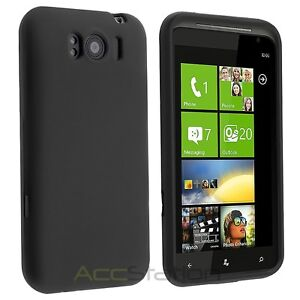 Black Silicone Skin Soft Gel Case Cover For HTC Titan X310E