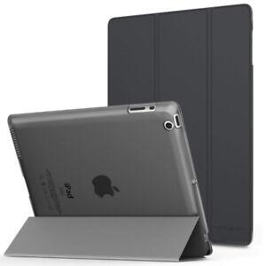 iPad 2 / 3 / 4 Case Ultra Slim Lightweight Smart-shell Gray