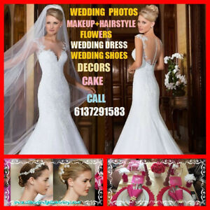 Wedding Dress+Shoes $29+ Flowers+Photo+Wedding services 50% off
