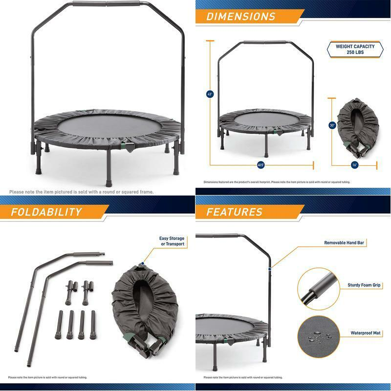Mini Foldable Trampoline With Bar Urban Rebounder Bouncing E