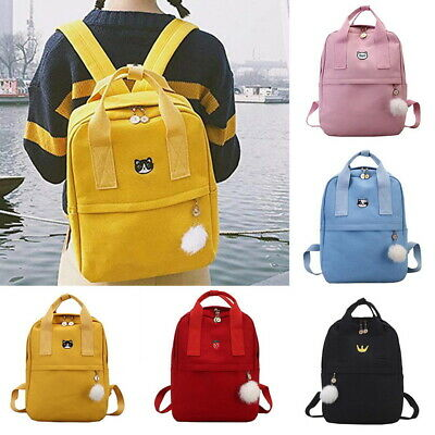 Backpack Women Canvas Travel Bookbags School Bags for Teenag