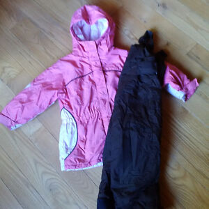 Girls Size 4 Columbia Snow Suit