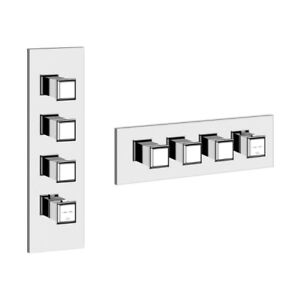 Gessi 48206 Fascino Thermostatic With Three Volume Controls Trim