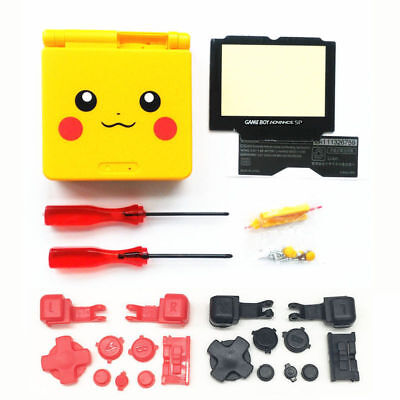 - GBA SP Game Boy Advance SP Replacement Housing Shell Pikachu Yellow BUTTONS!