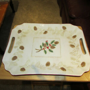 CERAMIC CHRISTMAS TRAY