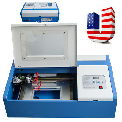 40w High Precise Co2 Laser Engraving Cutting Machine Engraver Cutter Usb Port Us