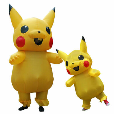 Pokemon Costume For Kids (Pokemon Pikachu Inflatable Costume Funny Dress Cosplay Gift for Adult And)