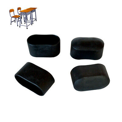 Black Plastic Furniture Chair Leg Foot Rubber Pad Caps Covers Protectors Floor   (Chair Foot Covers)