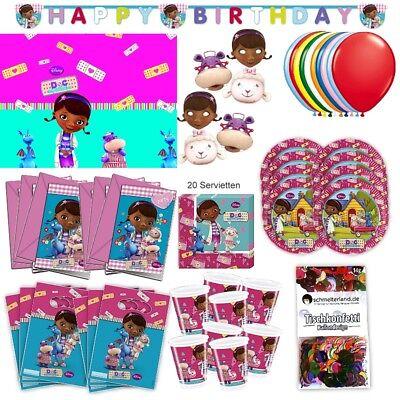 Doc McStuffins Party Set XL 73-teilig für 6 Gäste McStuffinsparty Geburtstag ()