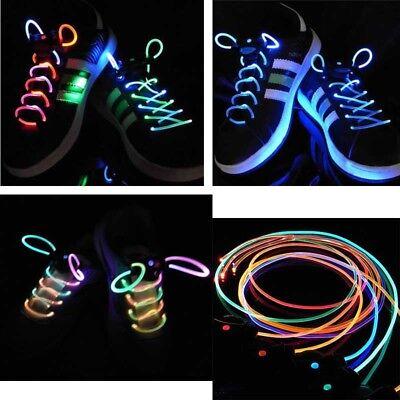 Mens Flash LED Shoelace Glow Stick Strap Strings Shoe Lace Disco Dance Party