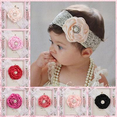 10pcs Cute Kids Baby Girl Toddler Flower Headband Hair Band Headwear Accessories
