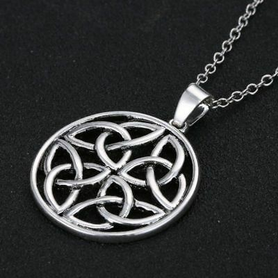 Pentagon Celtic Knot Pendant Charm Silver Plated Long Chain Necklace Jewelry 20' Celtic Silver Plated Necklace