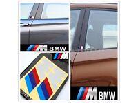 Set of 2pcs Cool Vinyl Auto Car Sticker Logo Decor Badge Emblem Decal For BMW