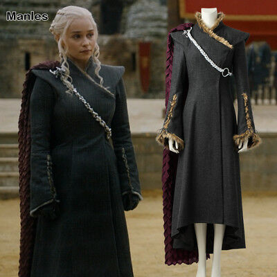 Game of Thrones 7 Daenerys Targaryen Costume Cosplay Mother of Dragons Outfit - Game Of Thrones Outfits