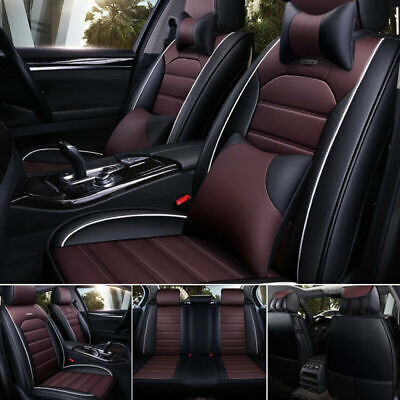 Universal Car Seat Covers Protect Front&Rear Cushion PU Leather Car Accessories