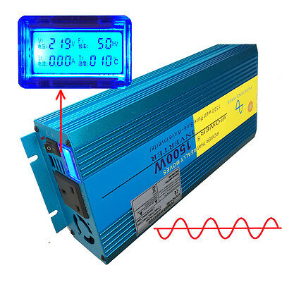 1500W/3000W Peak PURE SINE WAVE POWER INVERTER WITH LCD DISPLAY DC12V TO AC240V
