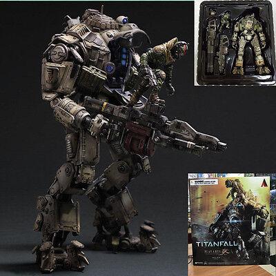 "PVC Play Arts Kai Atlas&Pilot Titanfall Armor Robot Action Figure Toy Statue 10"""