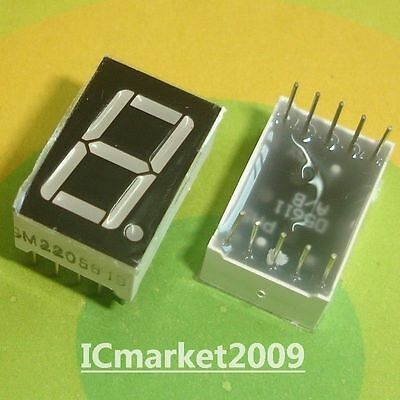 10 Pcs 0.56 Inch Green 7 Segment Led Display Common Cathode Ld-5161ag