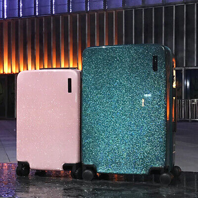 20''24'' Like the stars flowing Glittering Luggage Surface,PC Shell & Metal Draw