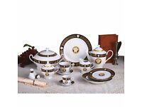 Zillinger 57 Pieces Porcelain Set Black