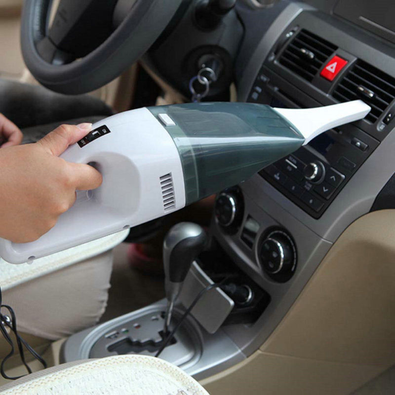 A small handheld vacuum can clean fragments of glass from a windshield chip.