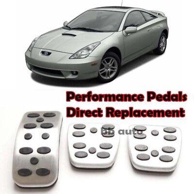 For 89-06 Toyota Celica MT Clutch Brake Foot Non Slip Accelerator Pedals Pad x3