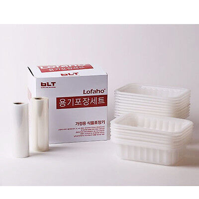 """Vacuum Tray & Film Set Food Meat soup storage packing Saver For Machine """"Lofaho"""""""