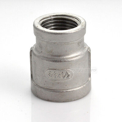 Nipple 34 X 12 Female Stainless Steel 304 Threaded Reducer Pipe Fitting Npt