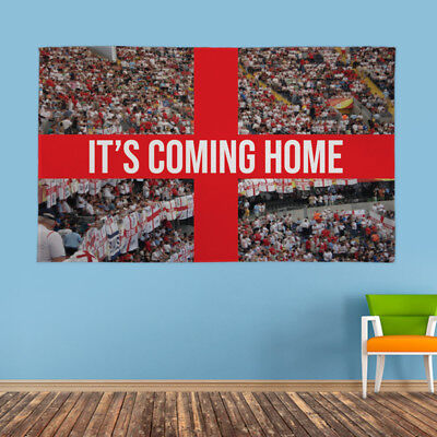 pporters Its Coming Home Football World Cup Fabric Banner (Homecoming Banner)